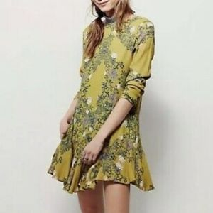 Free people floral smooth talker tonic dress small